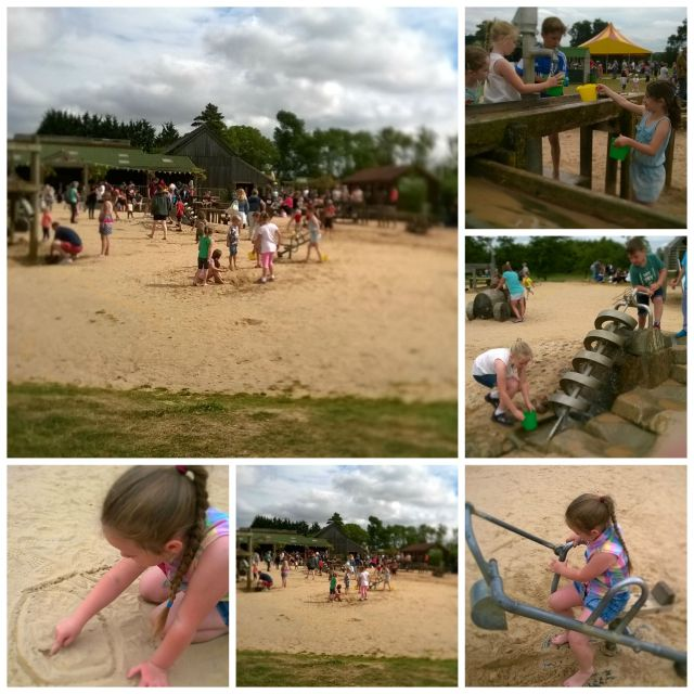 sandpit collage